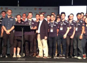 """Monash Motorsport take out """"Best Use of Virtual Methods to Achieve Vehicle Targets"""" award at Silverstone"""
