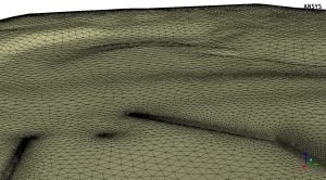 complex terrain effects modelledin ANSYS Spaceclaim and Fluent Meshing