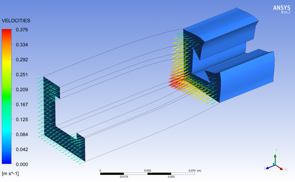 ANSYS Polyflow inverse extrsion simulation