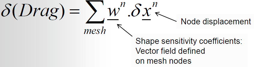 Formula to determine change in drag from node displacements