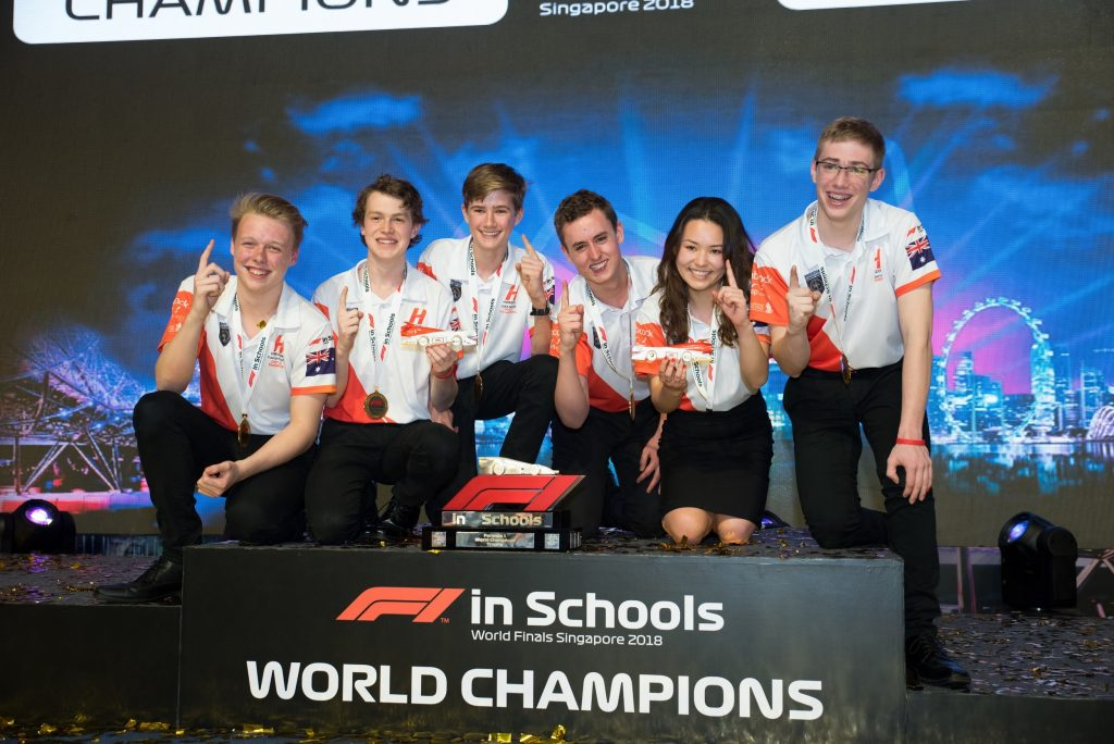 Horizon after being crowned 2018 F1 In Schools World Champions