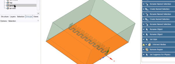"""Using scripted """"Record Blocks"""" to allow geometry parameterisation in SpaceClaim"""